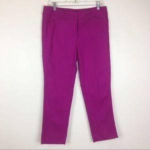 WHBM Magenta Slim/Ankle Pants Size 8